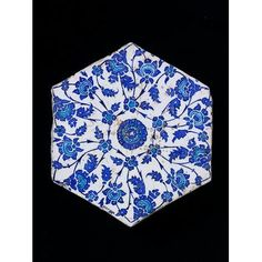 Tile        Place of origin:        Iznik, Turkey (made)      Turkey      Date:        1525-1550 (made)      Artist/Maker:        Unknown (production)      Materials and Techniques:        Fritware, underglaze painted in cobalt blue and turquoise, glazed