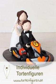 Kart Brautpaar als individuelle Tortenfigur für die Hochzeitstorte  #tortenfigur #Hochzeitstortenfigur #Hochzeit #Wedding #Hochzeitsideen #Hochzeitsdeko #Hochzeitstorte #weddingcake #caketopper #weddingcaketopper