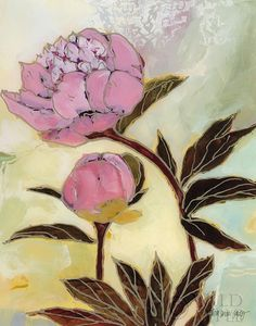 Pink Peony Blossom and Bud - 11x14  - 11x14 by