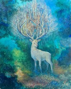 White Hart by Josephine Wall