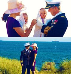 Danish Crown Prince Frederik & Crown Princess Mary with twins Vincent & Josephine
