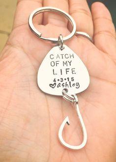 Fishing Lure Keychain For Him Boyfriend Gift by natashaaloha