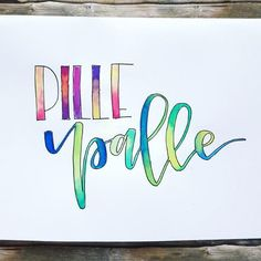 Letter Lovers schreibfieber: Handlettering Pille Palle