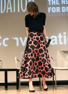 "Emma Stone in Lanvin Pre-Fall 2015, Worn at SAG Foundation Conversations: ""Birdman"" in New York City"