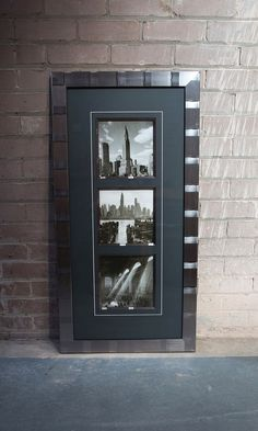 With its highly reflective brushed leaf finish, the arty Skyline range of frame mouldings has a masculine, urban feel – perfect for industrial loft and modern room settings. It makes a spectacular mirror frame too! http://mainlinemouldings.com/index.php?DepartmentID=17&ProductRange=Polcore&CategoryID=531