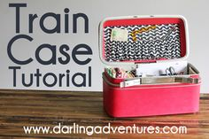 Train Case Redo: I bought one forever ago and I have been looking for a good way to turn it into a camera case, well the heavy weight interfacing is exactly what I wasn't thinking of. :) Now I can finally finish it!