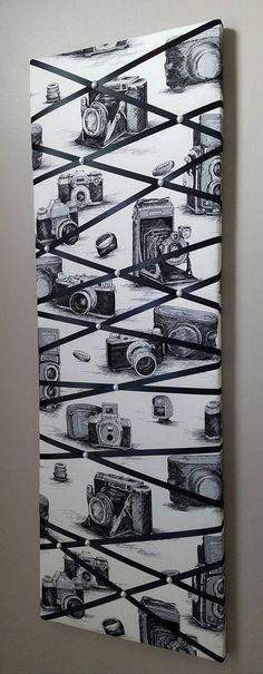 Memo board photo board memory board vision board fabric