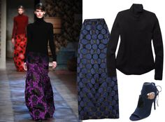 9Ways to Style a Turtleneck for Fall - With an Evening Skirt  - from InStyle.com