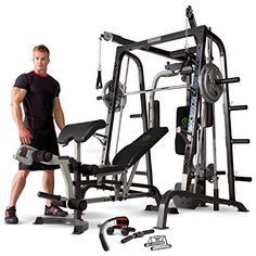 Details about Marcy Home Gym Smith Cage System Weight Training Circuit Combo Machine Home-Gym-Machines-Gyms-Weight-Body-Building-Cable-Fitness-Equipment-Workout-Work Multi Gym, Training Equipment, No Equipment Workout, Fitness Equipment, Best Home Gym Equipment, Yoga Equipment, Marcy Home Gym, Gym Workouts, At Home Workouts