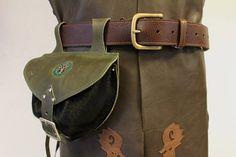 escarcelle cuir  aumonière médiévale  sacoche de ceinture