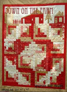Down on the Farm Log Cabin Quilt. Farm Quilt, Log Cabin Quilts, Lap Quilts, House Quilts, Small Quilts, Mini Quilts, Quilt Blocks, Log Cabins, Tractor Quilt