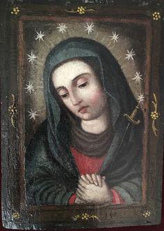 Virgen de los dolores Anónimo chileno sXVIII