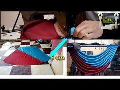 A simple idea to make curtain parts of a 70 cm cloth No Sew Curtains, How To Make Curtains, Window Swags, Valance Patterns, Ideas Para Fiestas, Curtain Designs, Window Treatments, Dream Catcher, Backdrops