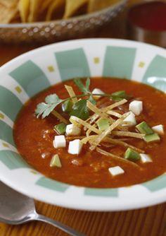 Tortilla Soup Recipe by Chefs Mary Sue Milliken & Susan Feniger - Saveur.com