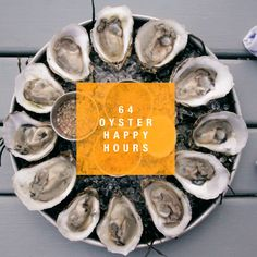 Oyster Deals:   http://www.thrillist.com/eat/new-york/50-amazing-oyster-happy-hours-in-nyc