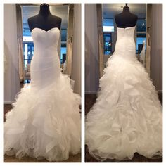 Real Imag Wedding Dresses Vestidos De Novia Mermaid White Sweetheart Tiered Ruffle Organza Long Wedding Dress Bridal Gowns