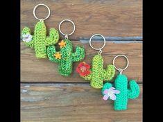 Llaveros tejidos a crochet - YouTube