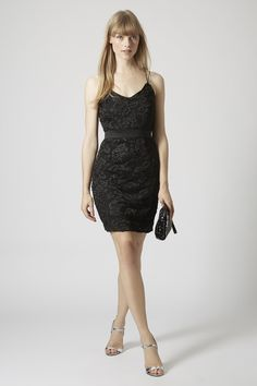 Strappy Lace Bodycon Dress - Topshop Europe