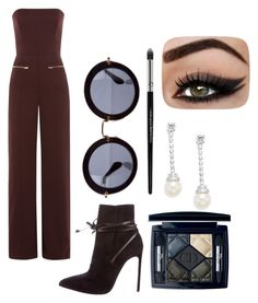 """""""80's junpsuit"""" by ekjohnson1216 on Polyvore featuring Maison Margiela, Yves Saint Laurent, Miu Miu, Christian Dior and CZ by Kenneth Jay Lane"""