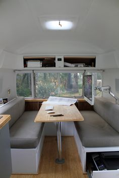 matthew hofman, of hofmann architecture, remodels a 1978 25-foot airstream (158 sq ft).