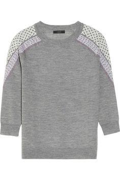 J. Crew Tippi embroidered merino wool sweater