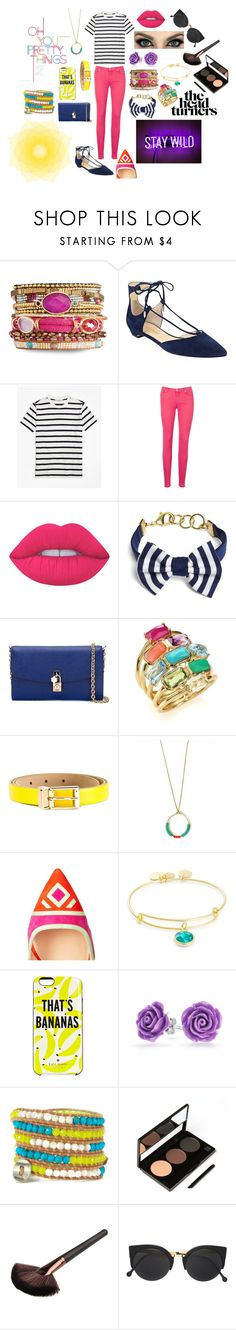 """""""The Head Turners"""" by obsessive-fashionista ❤ liked on Polyvore featuring Ivanka Trump, Brooks Brothers, 7 For All Mankind, Lime Crime, Dolce&Gabbana, Ippolita, Nicholas Kirkwood, Alex and Ani, Kate Spade and Bling Jewelry"""