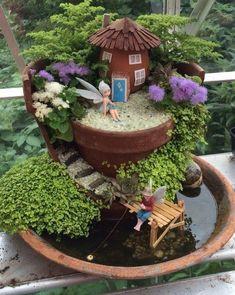Small Garden Landscaping 47 Sophisticated Fairy Garden Design Ideas To Try Asap.Small Garden Landscaping 47 Sophisticated Fairy Garden Design Ideas To Try Asap Fairy Garden Pots, Indoor Fairy Gardens, Fairy Garden Houses, Gnome Garden, Miniature Fairy Gardens, Easy Garden, Garden Art, Fairy Gardening, Gardening Tips