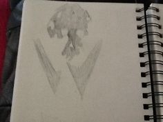 This is one of my negative space sketches I started of confused however, I believe these worked out well.
