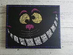 Cheshire Cat art painting // Alice in Wonderland painting // Cheshire cat inch canvas Acrylic painting // Cheshire cat gifts - Cheshire Cat Drawing, Chesire Cat, Disney Canvas, Disney Art, Disney Paintings, Animal Paintings, Cheshire Cat Zeichnung, Alice In Wonderland Paintings, Cheshire Cat Alice In Wonderland
