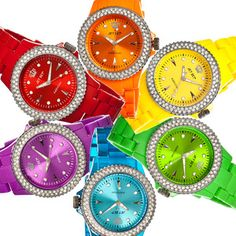 rainbow color watches i love these color watches i love watches and i would have one in every color matter of fact i missing yelloworange red - Color Watches