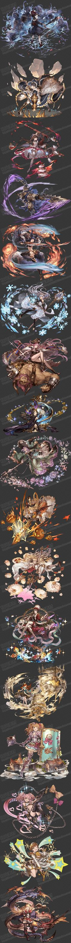 游戏原画素材/碧蓝幻想画集立绘/人物角色...@和光素材采集到人物原画(26图)_花瓣插画/漫画
