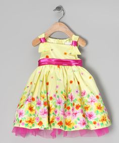 Yellow & Pink Floral Dress & Bloomers - Infant | Daily deals for moms, babies and kids