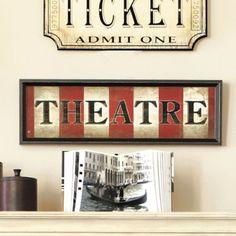 Ballard Designs Theatre Sign - Ideas for Family Room