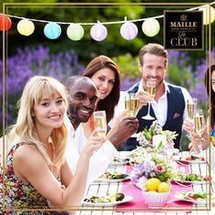 Group Of Friends Enjoying Outdoor Dinner Party Stock Photo - 31012711 Outdoor Dinner Parties, Outdoor Entertaining, Blue Matter, Le Club, Group Of Friends, Party Entertainment, People Photography, Baby Shower Parties, Event Decor