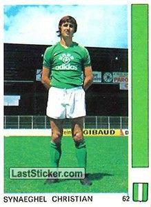 CHRISTIAN SYNAEGHEL 1977-78 SAINT ETIENNE Saint Etienne, Trading Cards, Saints, Christian, Adidas, Baseball Cards, Childhood Memories, Nostalgia, Collector Cards