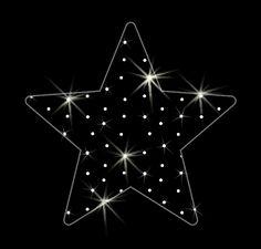 LED dekorácia do okna - hviezda - 600mm x 660mm - OMD10-L