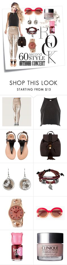 """""""Wing It"""" by ubm-world ❤ liked on Polyvore featuring Post-It, River Island, T-shirt & Jeans, Bling Jewelry, Toy Watch, Max&Co., Benefit, 60secondstyle and outdoorconcerts"""
