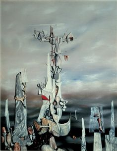 yves tanguy | Yves Tanguy, The Wish , 1949. Oil on canvas, 36 × 28 in. (91.4 × 71 ...