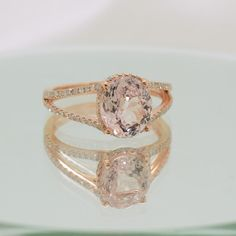 2.89 carat certified unheated oval peach champagne  by ReneJewelry
