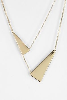 Two Triangles High/Low Necklace