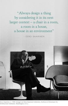 David Harrison writes about Eero Saarinen's iconic designs, from armchairs to airports on the Temple & Webster blog.