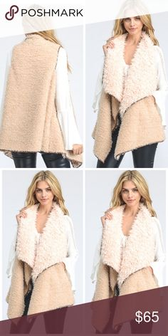 Preorder The Jacqueline Softest Open Front Vest Preorder The Softest Open Front Vest   Gorgeous, Chic, Comfy and Versatile  Limited quantities available   Preorder Now & Will Ship Upon Arrival ETA: Dec 4th   Material: 100% Polyester Jackets & Coats Vests