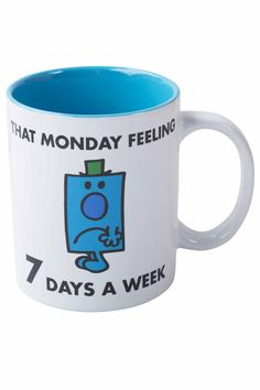 Mr Grumpy Slogan Mug, White   BHS