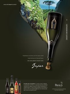 I chose this winery ad because of the eye catching image. The torn edges makes it look even more interesting, which is what a designer want, make the viewer or reader to look at it.