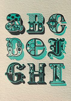 """Buzz Words - Poster by Fortress Letterpress from """"Impressive: Printmaking, Letterpress and Graphic Design""""."""