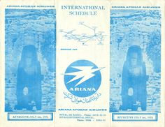 Ariana Afghan Airlines Timetable