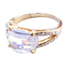 Golden ring with shining crystal  http://enewmall.com/women-rings/