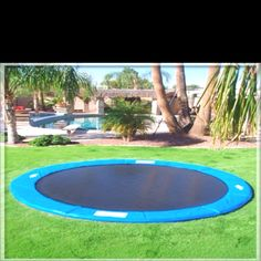 Trampoline in the ground