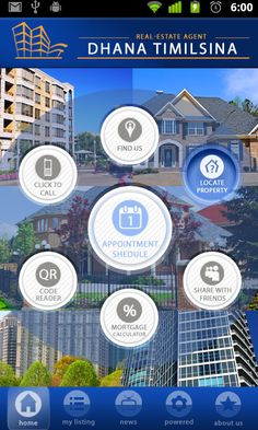 Mobile app for real-estate brokers and agents