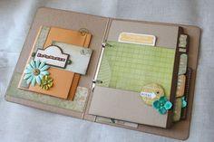 Love the pockets.... smash book idea....